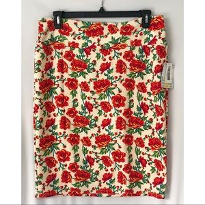 Lularoe New With Tags Cassie Floral Skirt Sz 3XL